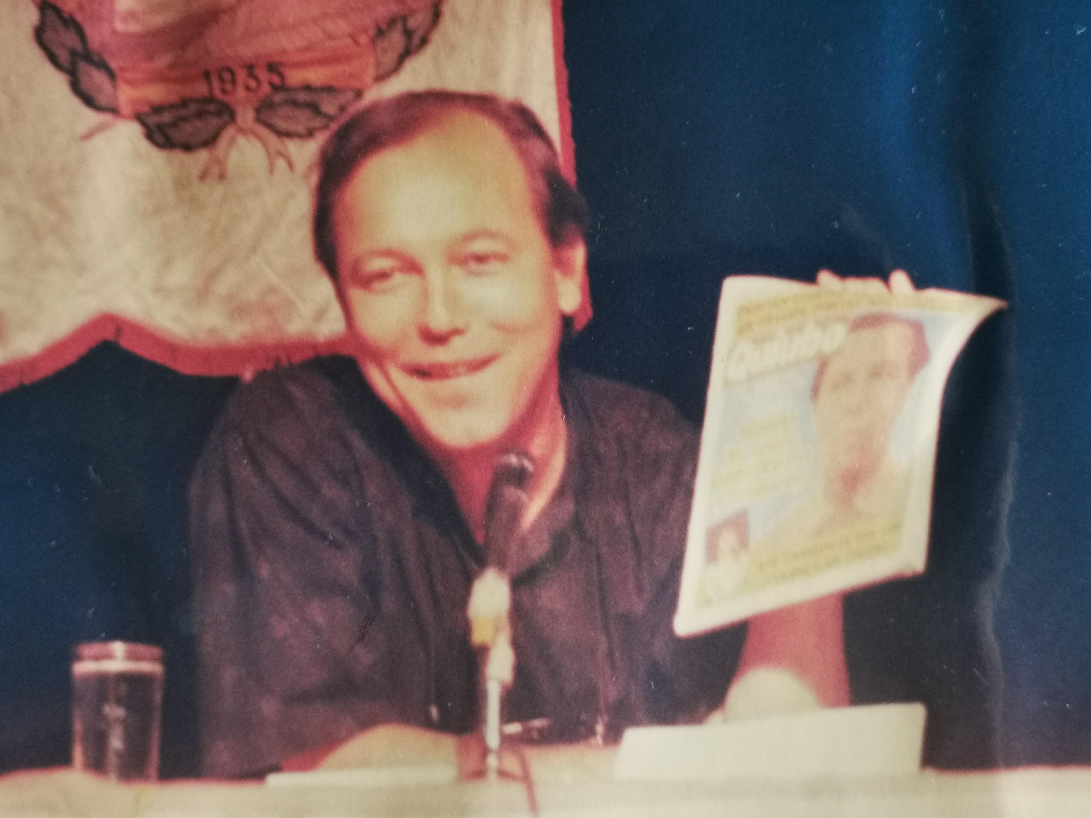 foto es de 1991 cuando la revista Quiubo le dio una plomera